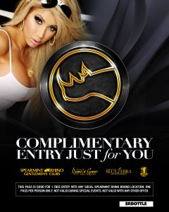 spearmint rhino clubs exclusive bottle free entry pass