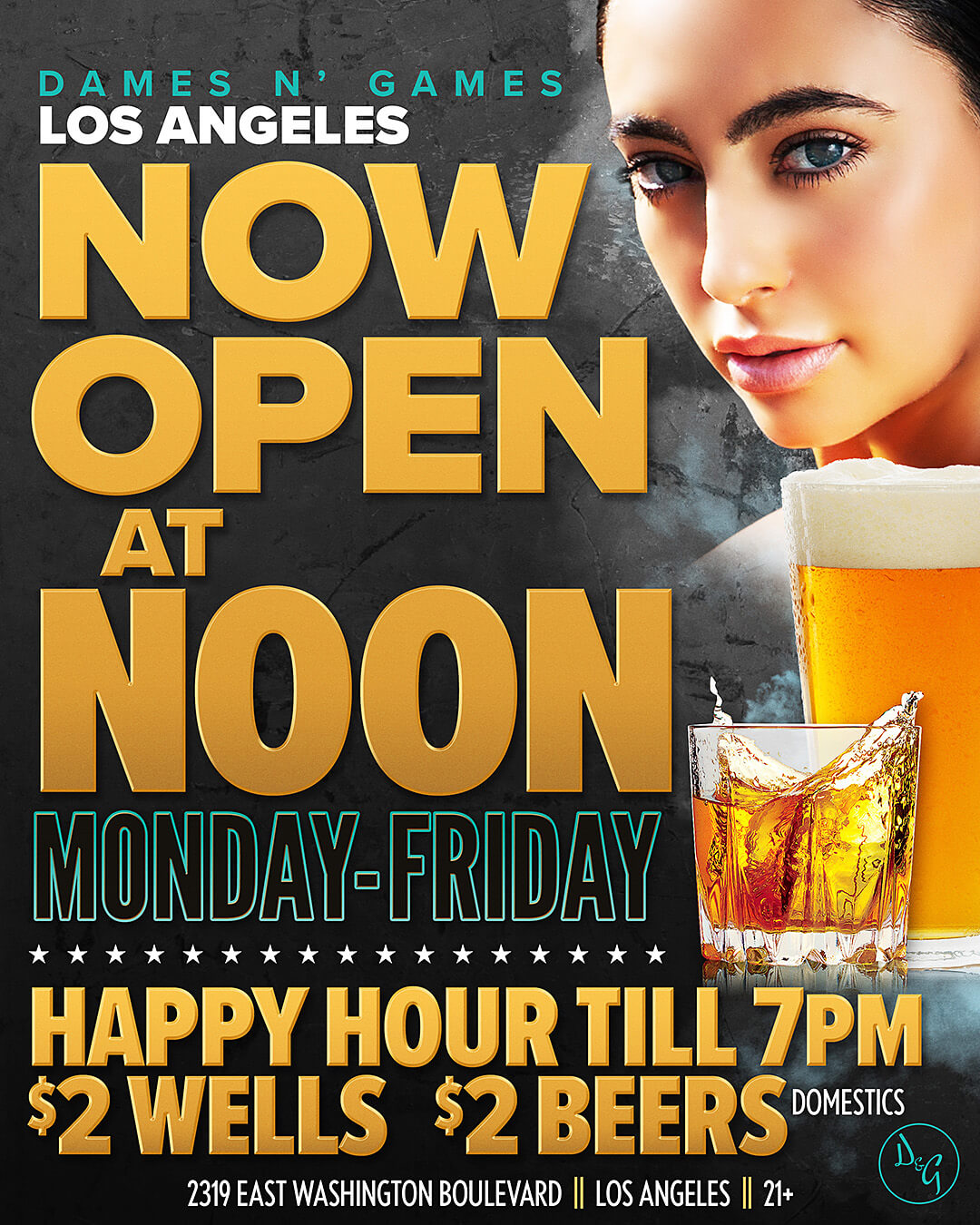 Open at Noon on the Weekdays